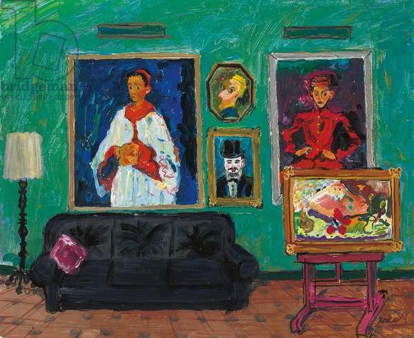 Soutine Chez l'Amateur, 1992 (oil on canvas)