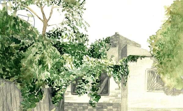 Landscape, 2020, (watercolour and pencil on paper)