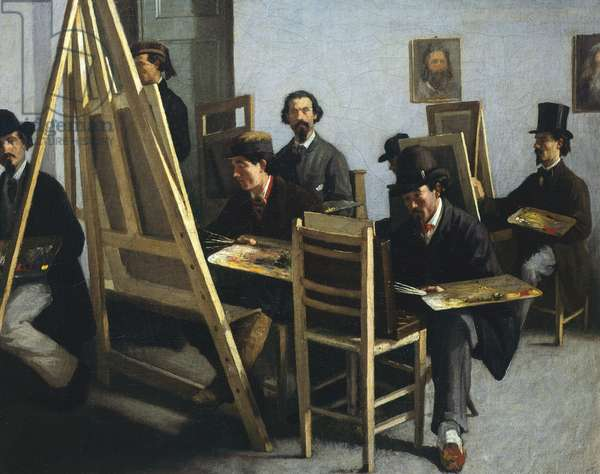 School of Painting, by Michele Cammarano, Circa 1865