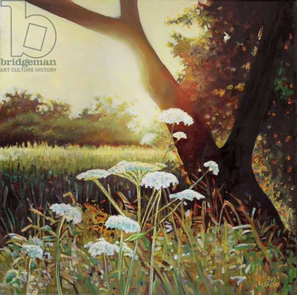 Golden hedgerow I, 2014, (oil on canvas)