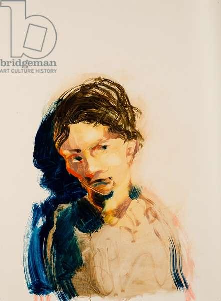 Imagined portrait of Ann Medlyn, 2015, (oil on paper)