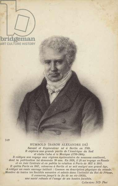 Baron Alexander von Humboldt (1769-1859), German geographer, naturalist and explorer (litho)