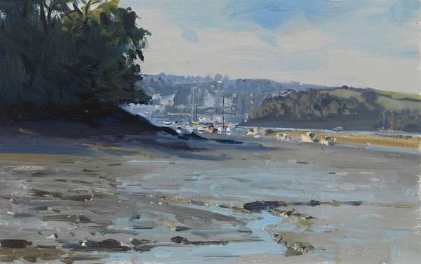 Salcombe down from Southpool Creek, 2011 (oil on board)