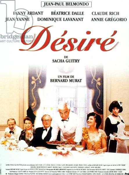 l Affiche du film Desire de Bernard Murat avec Jean-Paul Belmondo, Fanny Ardant 1995