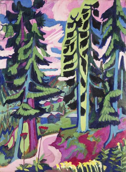 Wild Mountain (Mountain Forest; Summer Forest); Wildboden (Bergwald; Sommerlicher Waldweg), 1927-1928 (oil on canvas)