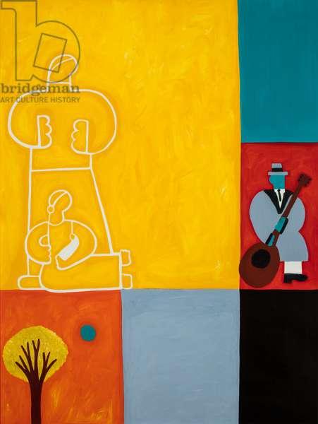 The family,2001,(oil on linen)