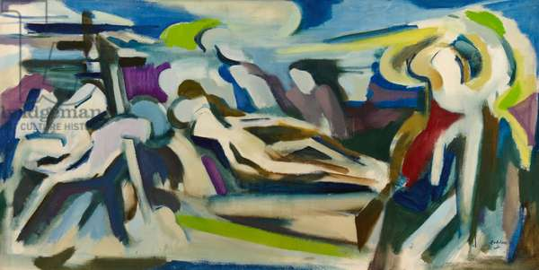 Deposition, Burial and Resurrection of Christ, 1968/1969 (oil on canvas)