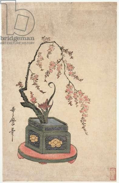 Floral Arrangement, 18th-19th century (woodblock print)