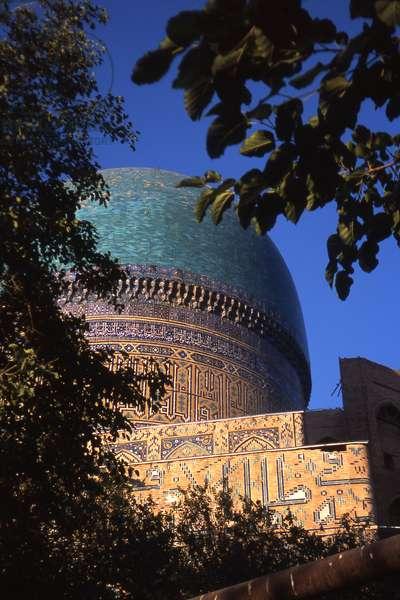 Cupola of Bibi-Khanym Mosque, Samarkand, Uzbekistan,  (photo)