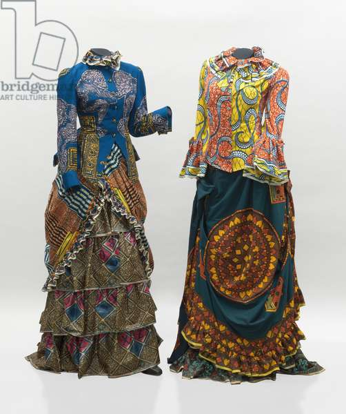 Gay Victorians, 1999 (wax-printed cotton textile)