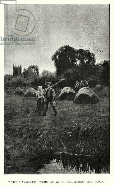 Illustration for Jane Eyre by Charlotte Bronte (engraving)