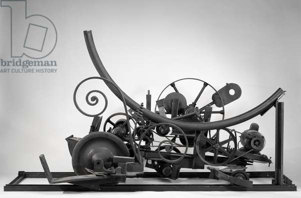 M. K. III, 1964 (steel, steel pipe section, iron wheels, rubber V-belt, flat belt & electric motor)