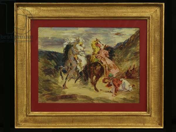 (after Delacroix) (oil on panel)