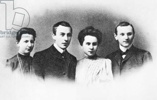 Sergei Rachmaninoff with his wife Natalya