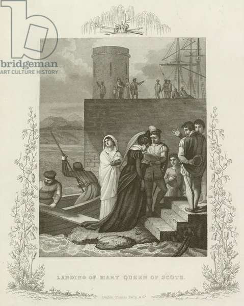 Landing of Mary Queen of Scots (engraving)