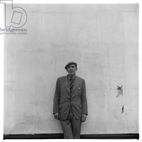 Portrait of poet George Barker, London, mid early 1950's