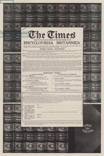 Advertisement, Encyclopaedia Britannica (engraving)