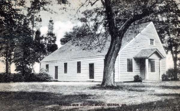 Souvenir postcard of Three Friends Meetinghouse (recto) (postcard)