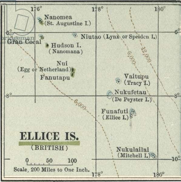 Map of Ellice Islands