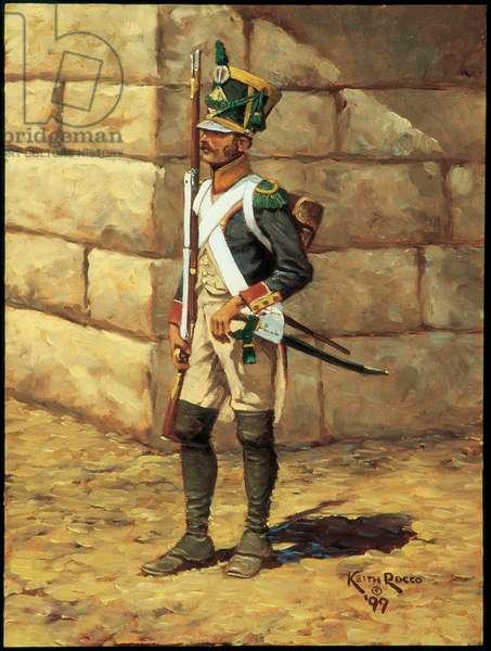 Voltigeur: 96th Regiment of Line Infantry 1807, 1999 (oil on board)