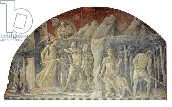 Expulsion from Paradise and Work of the Progenitors, Cain and Abel, 1425-1430 (fresco)