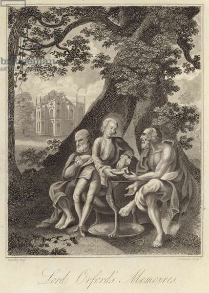 Horace Walpole, English historian, author and politician (engraving)