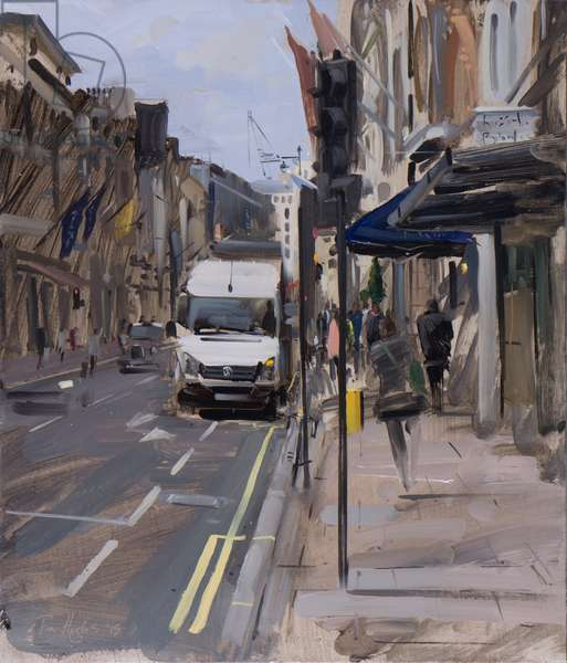 Van on New Bond Street, May