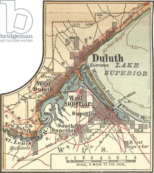 Map of Duluth, Minnesota