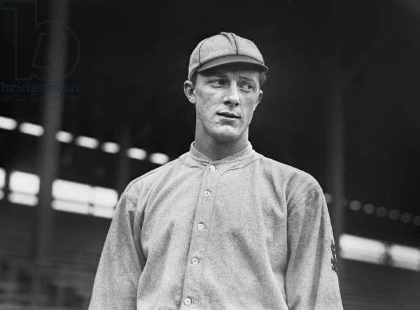 Grover Loudermilk, Major League Baseball Player, Saint Louis Cardinals, Half-Length Portrait, Bain News Service, 1911 (b/w photo)