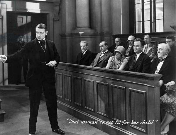 Clive Brook, (left), on-set of the Film,