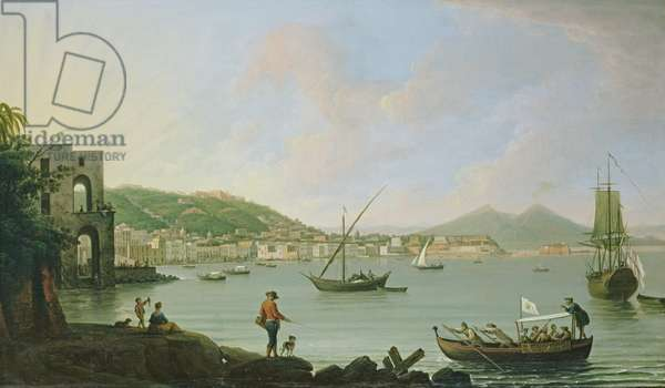 Bay of Naples from Posillipo, c.1770 (oil on canvas)