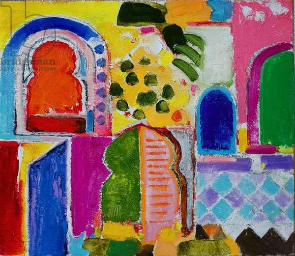 Fez (oil on canvas)