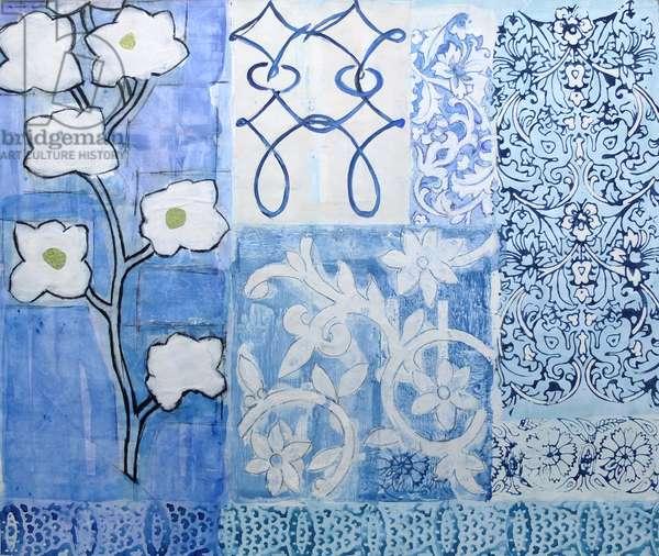 China Blue Floral Design