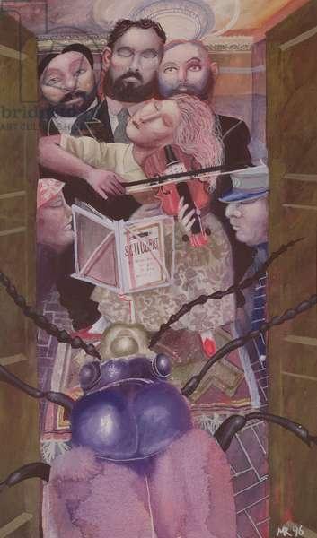 Metamorphosis, Kafka: Greta Plays for the Lodgers, 1996 (oil on canvas)