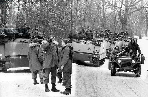 Field exercise of US army in Berlin