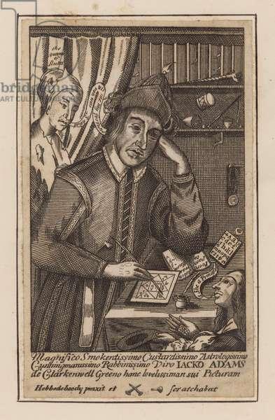 Jacko Adams, astrologer of Clerkenwell Green, London (engraving)