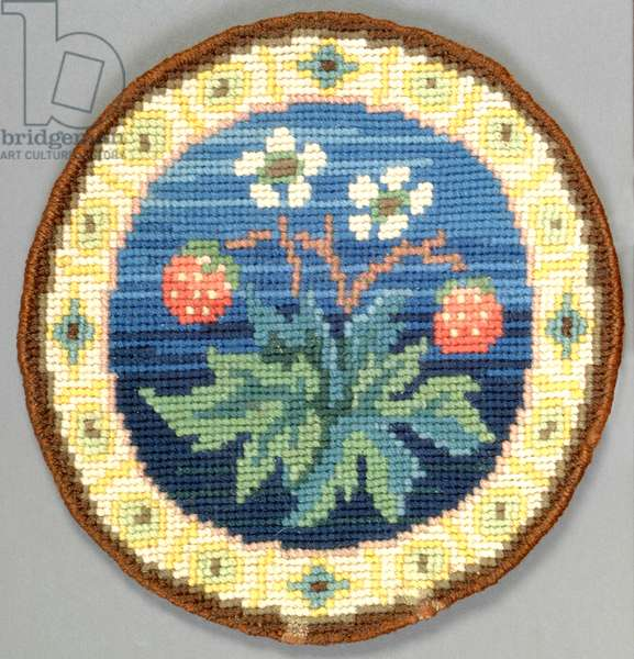 Fruit table mat, 1910 (embroidery)