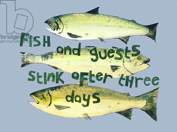 Fish & guests ,2018 (watercolour)