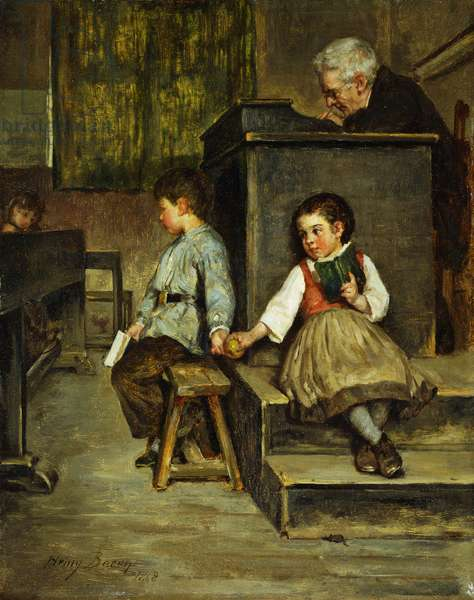 The Classroom, 1868 (oil on panel)