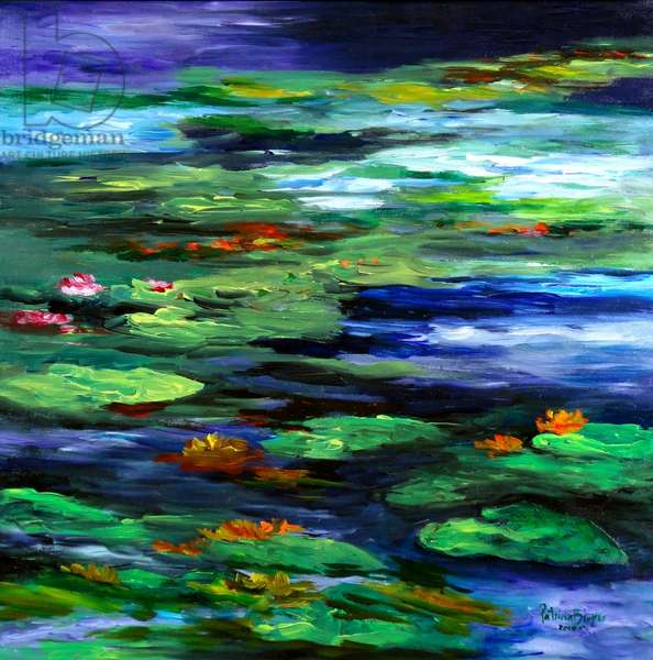 Water Lily Somnolence, 2010 (acrylic on canvas)