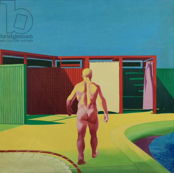 Back View Walking Figure, 1968 (oil on canvas)