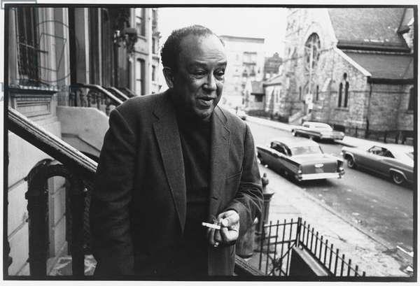 Langston Hughes, Harlem, New York, 1966 (b/w photo)