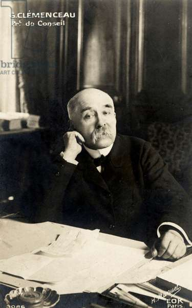 Georges Clemenceau sitting at