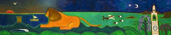 Le Cap de Roccapina et son lion, 2014, (oil on linen)
