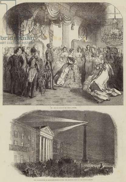 Queen Victoria in Dublin (engraving)