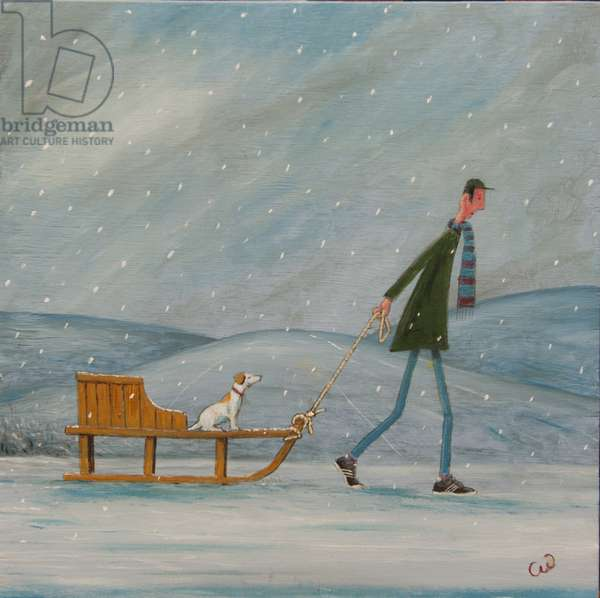 The Sled, 2013, (oil on panel)