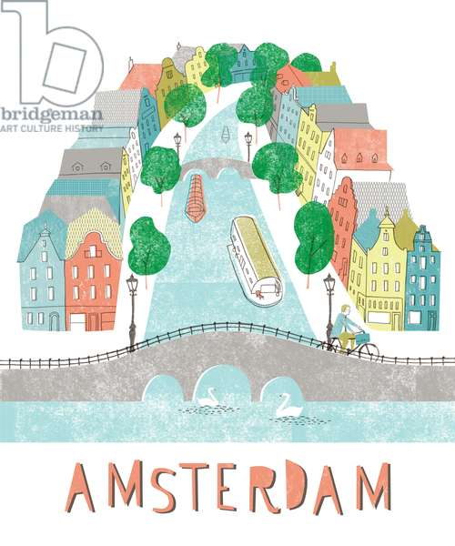 Amsterdam, 2012, mixed media