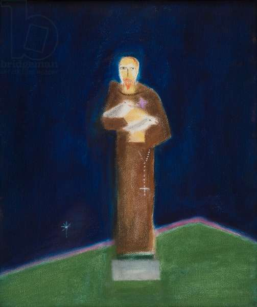 St Francis, 1993 (oil on canvas)