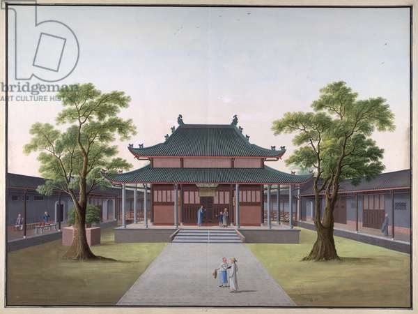 Honam Temple - Pavilion of the Pearl of Desire, 1800-05 (opaque w/c on paper)
