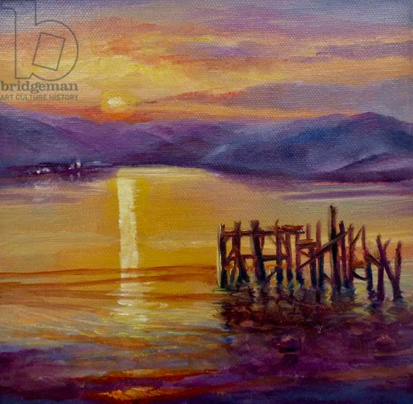 Old Jetty, Isle of Bute, 2019, (oil on canvas)